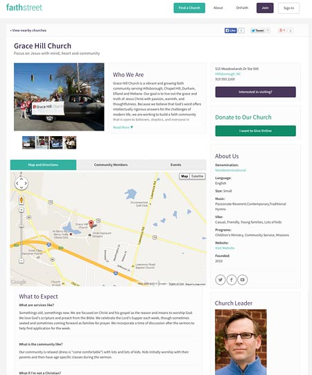 Create and customize your church profile!
